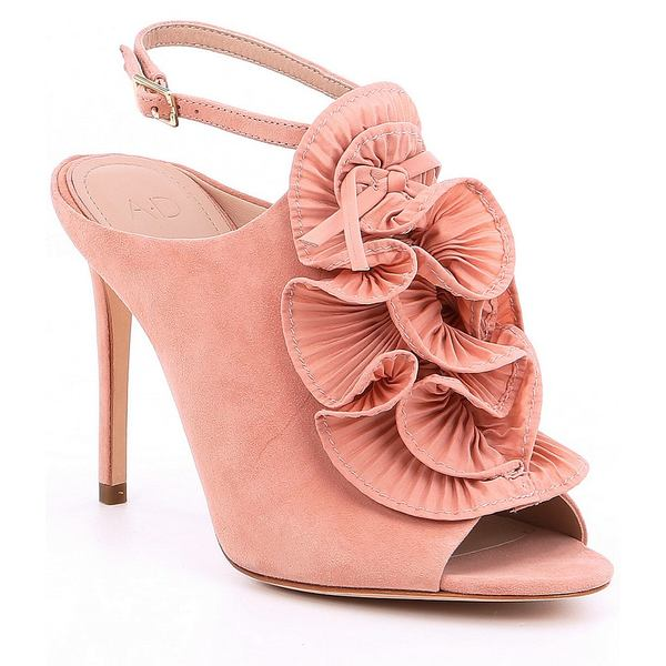 AD&ドーターズ レディース サンダル シューズ Anmarie Ruffled Dress Sandals Rose Cache