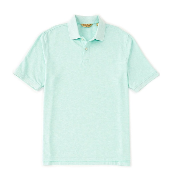 ランドツリーアンドヨーク メンズ ポロシャツ トップス Gold Label Perfect Performance Short-Sleeve Solid Non-Iron Polo Mint Heather