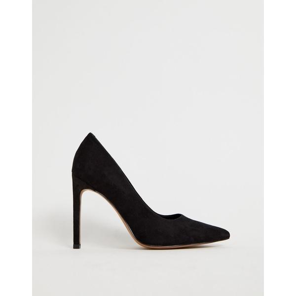 エイソス レディース ヒール シューズ ASOS DESIGN Porto pointed high heeled pumps in black Black