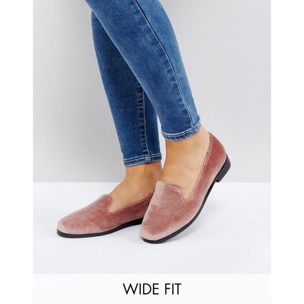 エイソス レディース サンダル シューズ ASOS MALBEC Wide Fit Flat Shoes Mink velvet