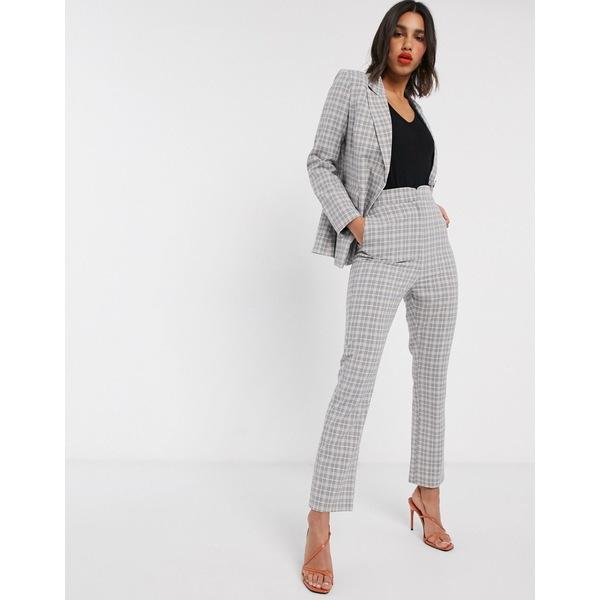 ファッションモンキー レディース カジュアルパンツ ボトムス Fashion Union check tailored pants two-piece Check