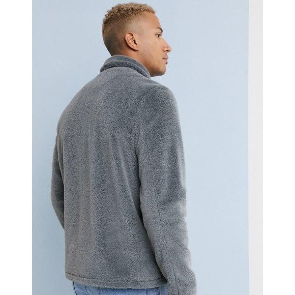 エイソス メンズ ジャケット&ブルゾン アウター ASOS DESIGN faux fur jacket in gray Gray