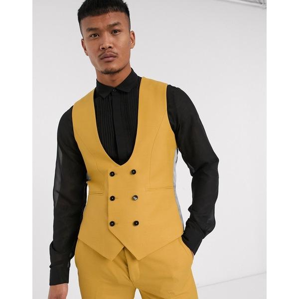 ツイステッドテイラー メンズ ジャケット&ブルゾン アウター Twisted Tailor Hemmingway suit vest in dark yellow Tawny olive