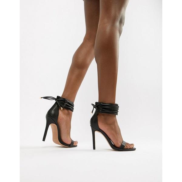 エイソス レディース サンダル シューズ ASOS DESIGN Hidden Cuff Heeled Sandals Black