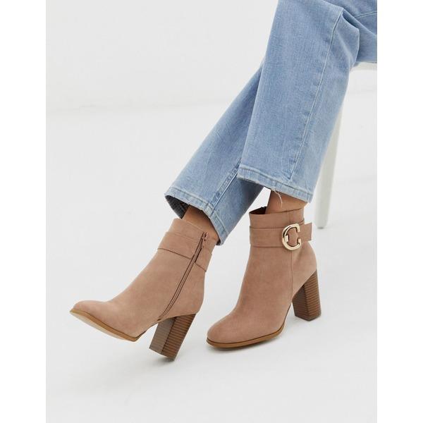 エイソス レディース ブーツ&レインブーツ シューズ ASOS DESIGN Relay heeled ankle boots in taupe Taupe