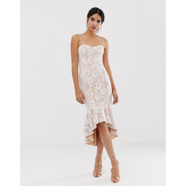 ジャーロ レディース トップス ワンピース White 全商品無料サイズ交換 ジャーロ レディース ワンピース トップス Jarlo all over lace cami strap lace midi dress in white White