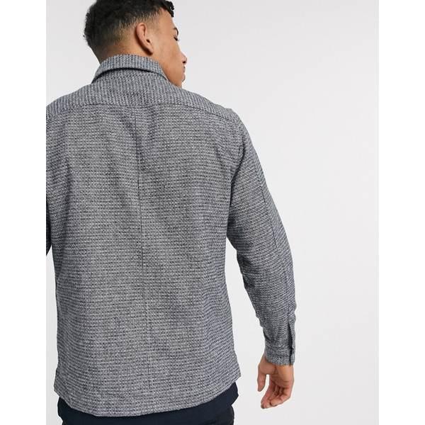 リバーアイランド メンズ シャツ トップス River Island overshirt in Mid Gray Mid gray