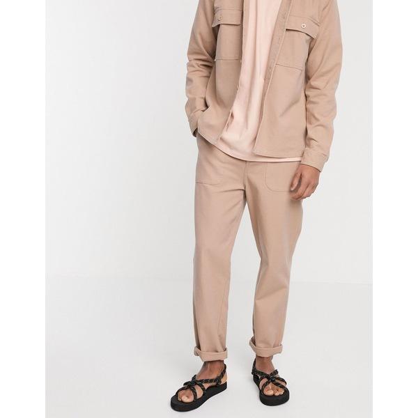 エイソス メンズ カジュアルパンツ ボトムス ASOS DESIGN two-piece relaxed carpenter pants in pink Pink