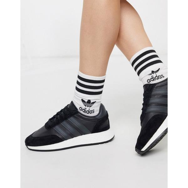 アディダスオリジナルス レディース スニーカー シューズ adidas Originals I-5923 sneakers in black Core black