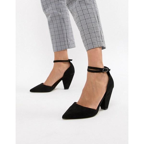 エイソス レディース ヒール シューズ ASOS DESIGN Speakeasy pointed mid heels Black