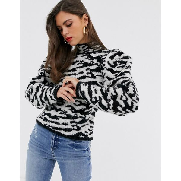エイソス レディース ニット&セーター アウター ASOS DESIGN borg animal sweater Multi