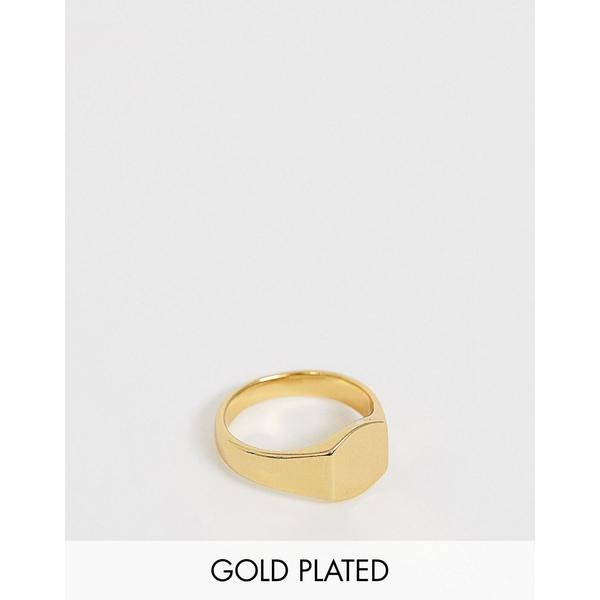 エイソス メンズ アクセサリー リング Gold 全商品無料サイズ交換 エイソス メンズ リング アクセサリー ASOS DESIGN 14k gold plated pinky ring Gold