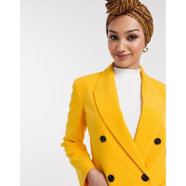 エイソス レディース ジャケット&ブルゾン アウター ASOS DESIGN pop waisted suit blazer in yellow Yellow