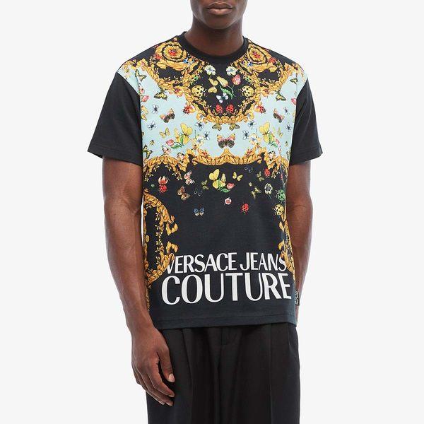 ベルサーチ メンズ シャツ トップス Lady Bug Print Logo T-Shirt Black