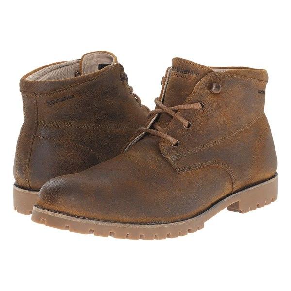 ウルバリン メンズ ブーツ&レインブーツ シューズ Cort Waterproof Leather Chukka Brown Leather