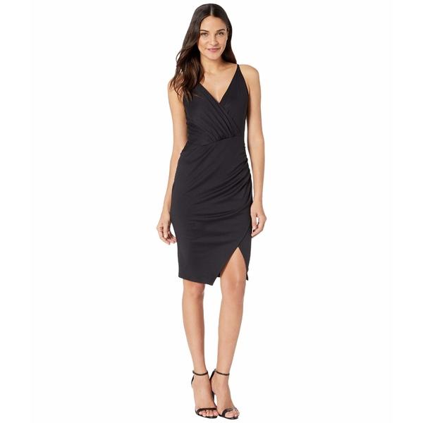 スサナモナコ レディース トップス ワンピース Black 全商品無料サイズ交換 スサナモナコ レディース ワンピース トップス Gathered Wrap Front Slit Dress Black