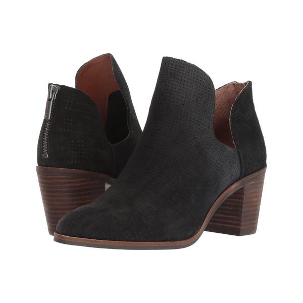 ラッキーブランド レディース ブーツ&レインブーツ シューズ Powe Black Suede Leather