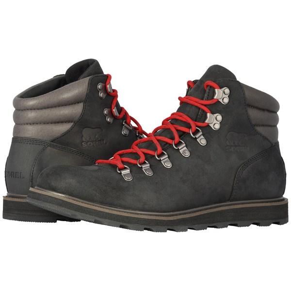 ソレル メンズ ブーツ&レインブーツ シューズ Madson Hiker Waterproof Black 2