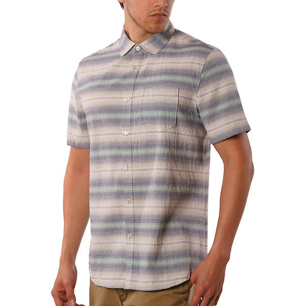 ジェレミア メンズ シャツ トップス Jeremiah Men's Gibson Textured Chambray Stripe SS Shirt Griffin