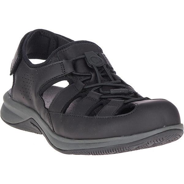 メレル メンズ サンダル シューズ Merrell Men's Tideriser Luna Fisherman Leather Sandal Black