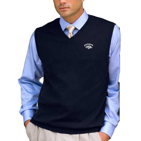 ビンテージアパレル メンズ ジャケット&ブルゾン アウター Nevada Wolf Pack Milano Knit Sweater Vest Navy