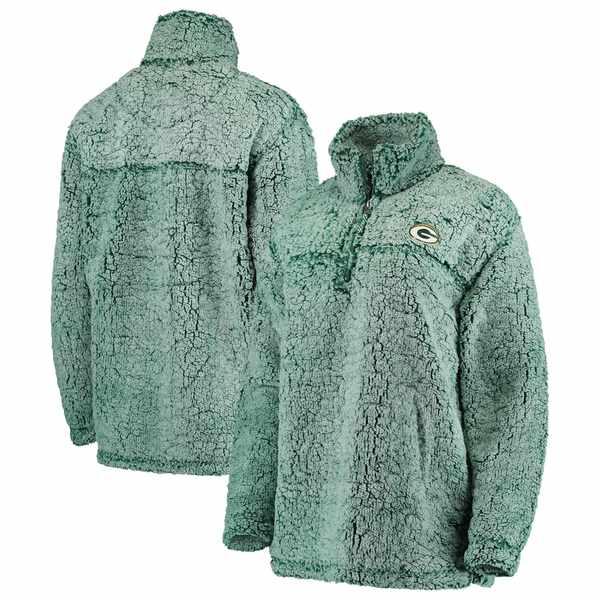 カールバンクス レディース ジャケット&ブルゾン アウター Green Bay Packers Women's Sherpa Quarter-Zip Pullover Jacket Green