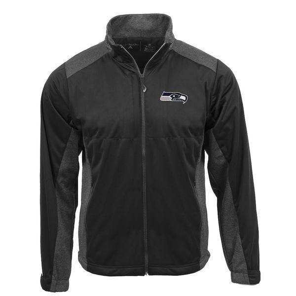 アンティグア メンズ ジャケット&ブルゾン アウター Seattle Seahawks Antigua Revolve Full-Zip Jacket Charcoal