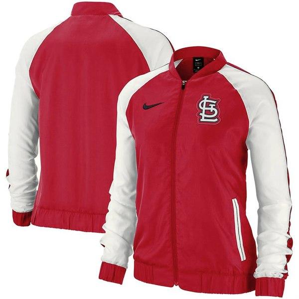 ナイキ レディース ジャケット&ブルゾン アウター St. Louis Cardinals Nike Women's Varsity Full-Zip Jacket Red