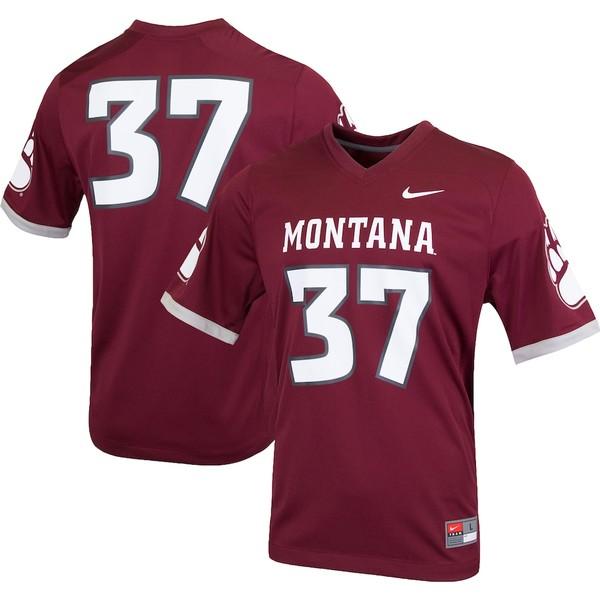 ナイキ メンズ シャツ トップス Montana Grizzlies Nike College Replica Football Jersey Maroon