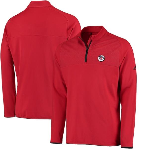 アディダス メンズ ジャケット&ブルゾン アウター LA Clippers adidas Fashion 2 Layering climawarm Pullover Jacket Red
