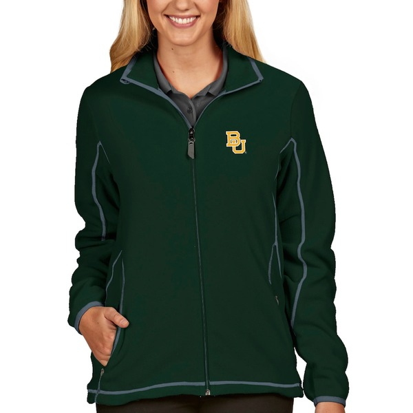 アンティグア レディース ジャケット&ブルゾン アウター Baylor Bears Antigua Women's Ice Full-Zip Jacket Green