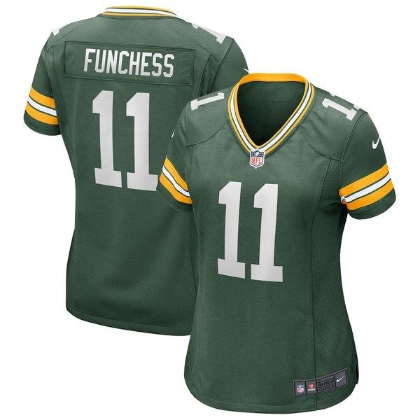 ナイキ レディース シャツ トップス Devin Funchess Green Bay Packers Nike Women's Game Player Jersey Green