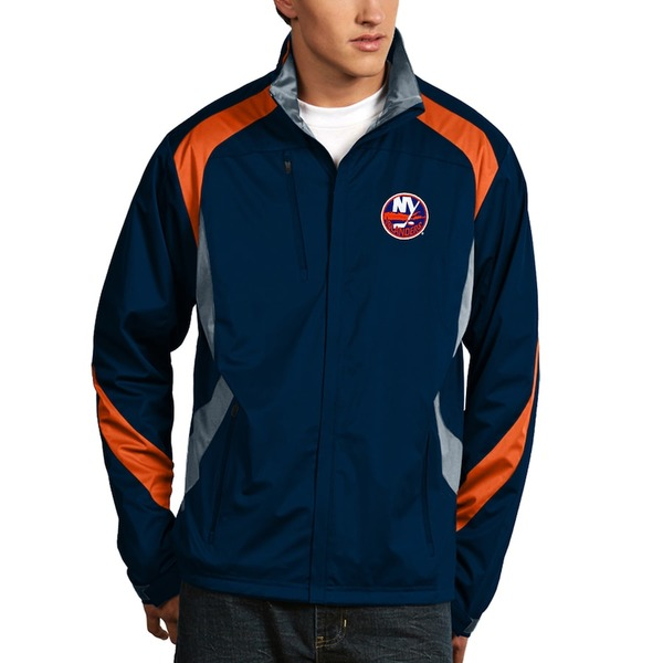 アンティグア メンズ ジャケット&ブルゾン アウター New York Islanders Antigua Tempest Performance Full-Zip Jacket Navy