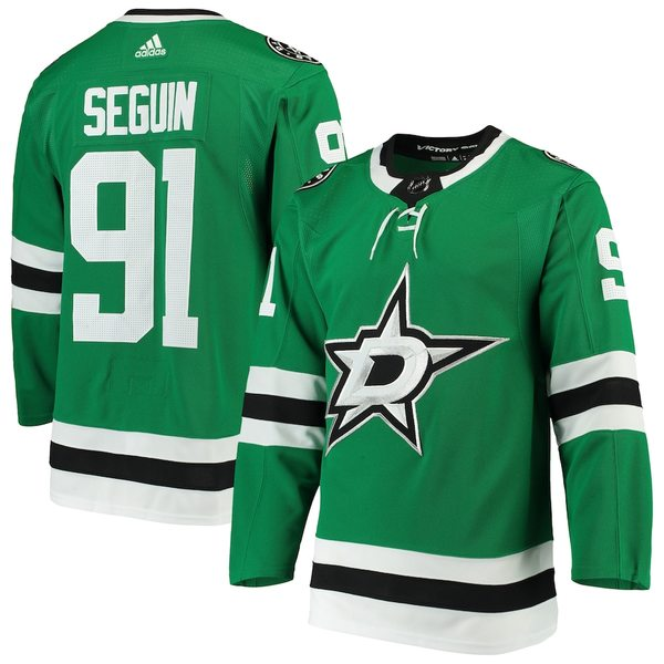 アディダス メンズ シャツ トップス Tyler Seguin Dallas Stars adidas Home Authentic Player Jersey Kelly Green