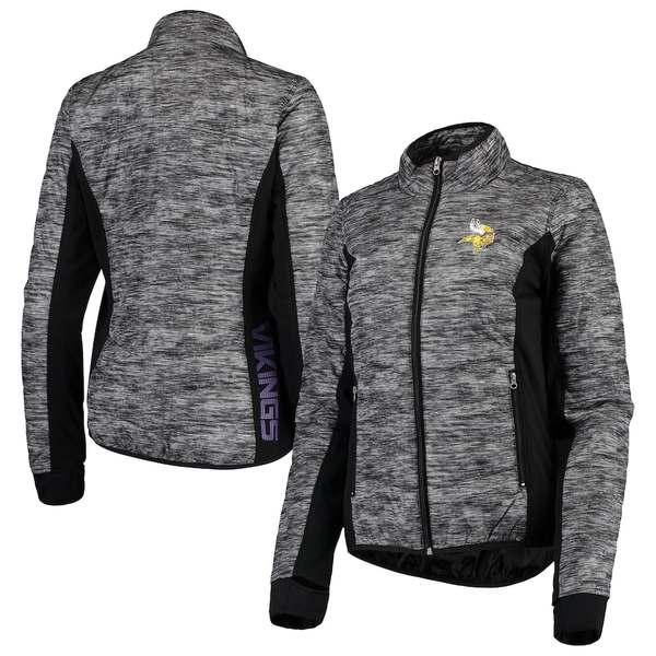 カールバンクス レディース ジャケット&ブルゾン アウター Minnesota Vikings G-III 4Her by Carl Banks Women's Huddle Full-Zip Jacket Black