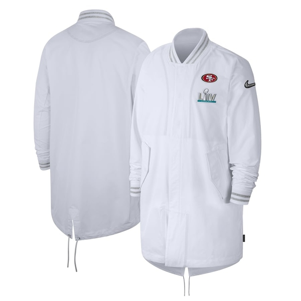 ナイキ メンズ ジャケット&ブルゾン アウター San Francisco 49ers Nike Super Bowl LIV Bound Media Night Player Jacket White