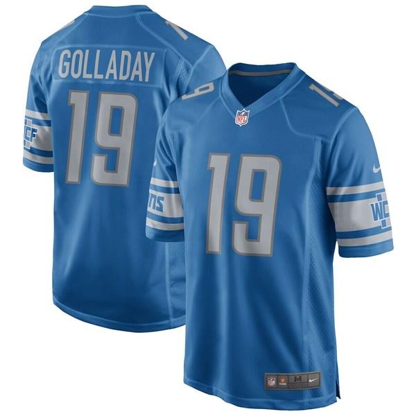 ナイキ メンズ シャツ トップス Kenny Golladay Detroit Lions Nike Game Jersey Blue