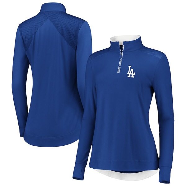 ファナティクス レディース ジャケット&ブルゾン アウター Los Angeles Dodgers Fanatics Branded Women's Iconic Clutch Half-Zip Pullover Jacket Royal