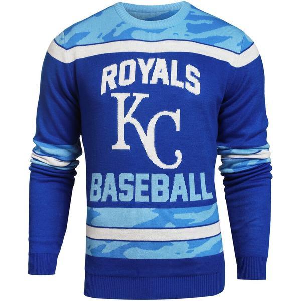 フォコ メンズ シャツ トップス Kansas City Royals Camouflage Team Sweater Royal