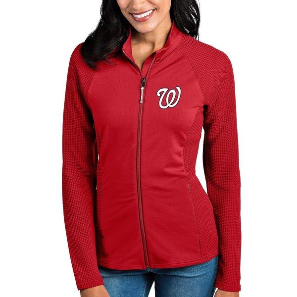 アンティグア レディース ジャケット&ブルゾン アウター Washington Nationals Antigua Women's Sonar Full-Zip Jacket Red