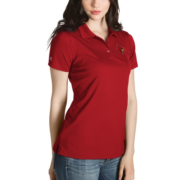 アンティグア レディース ポロシャツ トップス Louisville Cardinals Antigua Women's Desert Dry Inspire Polo Red