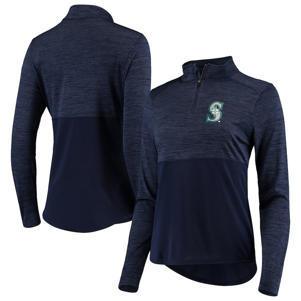ファナティクス レディース ジャケット&ブルゾン アウター Seattle Mariners Fanatics Branded Women's Quarter-Zip Pullover Jacket Navy