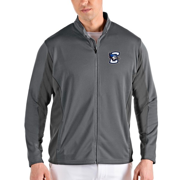 アンティグア メンズ ジャケット&ブルゾン アウター Creighton Bluejays Antigua Passage Full-Zip Jacket Gray/Charcoal