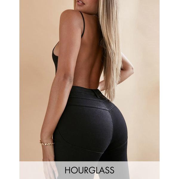 エイソス レディース デニムパンツ ボトムス ASOS DESIGN Hourglass lift and contour skinny jeans in clean black Clean black