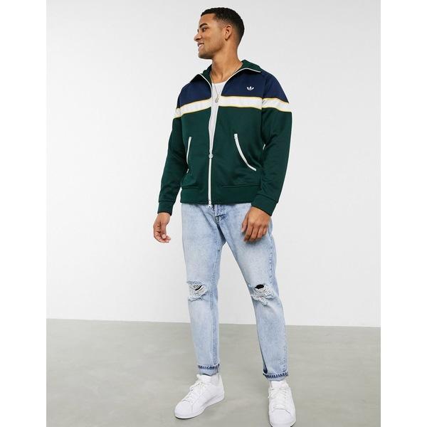 アディダスオリジナルス メンズ ジャケット&ブルゾン アウター adidas Originals Samstag premium track jacket Ny1 - navy 1