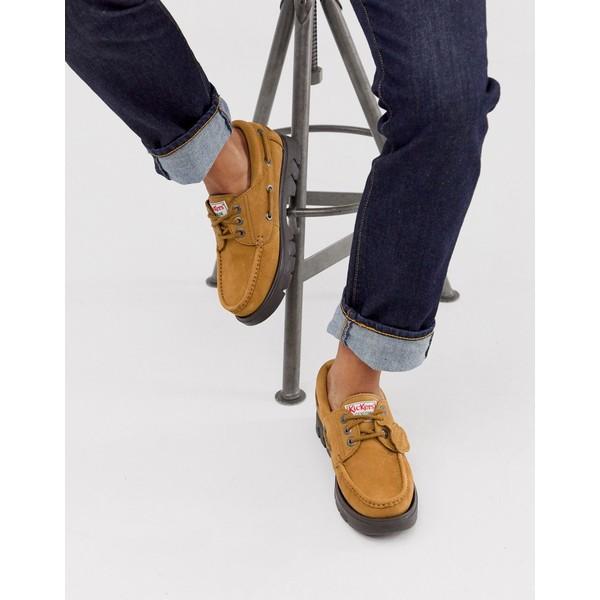 キッカーズ メンズ スニーカー シューズ Kickers lennon boat shoes in tan suede Beige