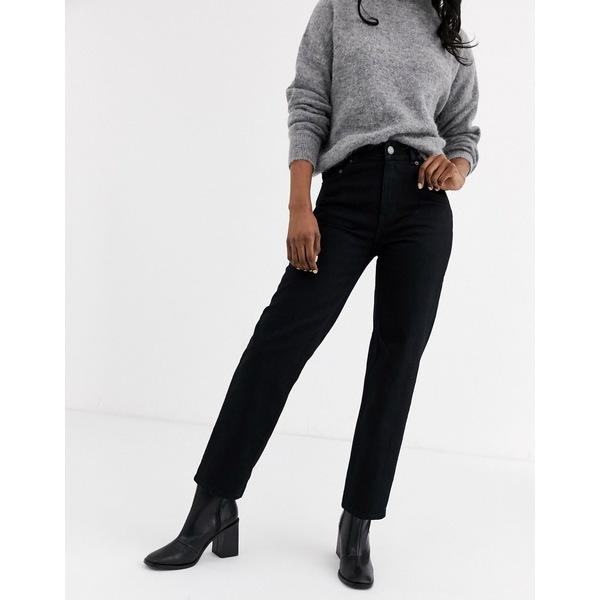 アンドアザーストーリーズ レディース デニムパンツ ボトムス & Other Stories straight leg jeans in black Black denim