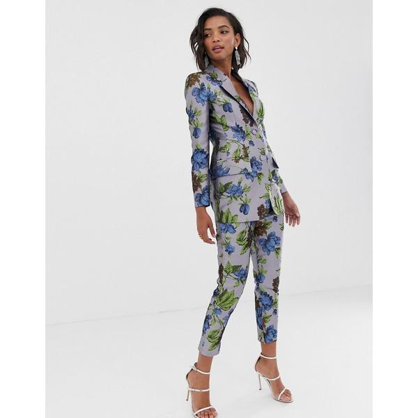 エイソス レディース カジュアルパンツ ボトムス ASOS EDITION floral jacquard pants Multi