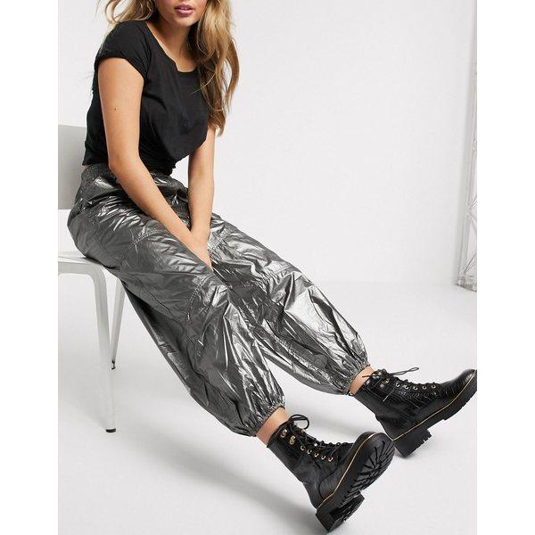 フリーペープルムーブメント レディース カジュアルパンツ ボトムス Free People Movement Mirror Ball pants in silver Silver