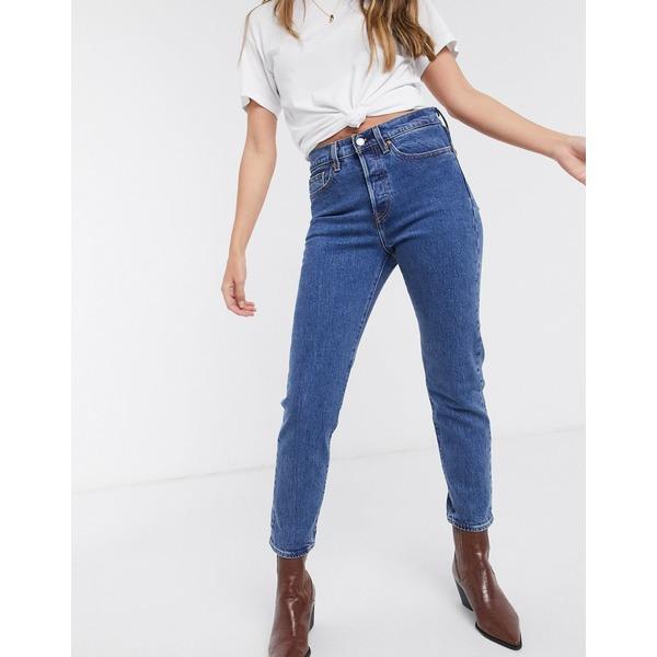リーバイス レディース デニムパンツ ボトムス Levi's Wedgie high rise snug fit jeans in mid wash blue Blue